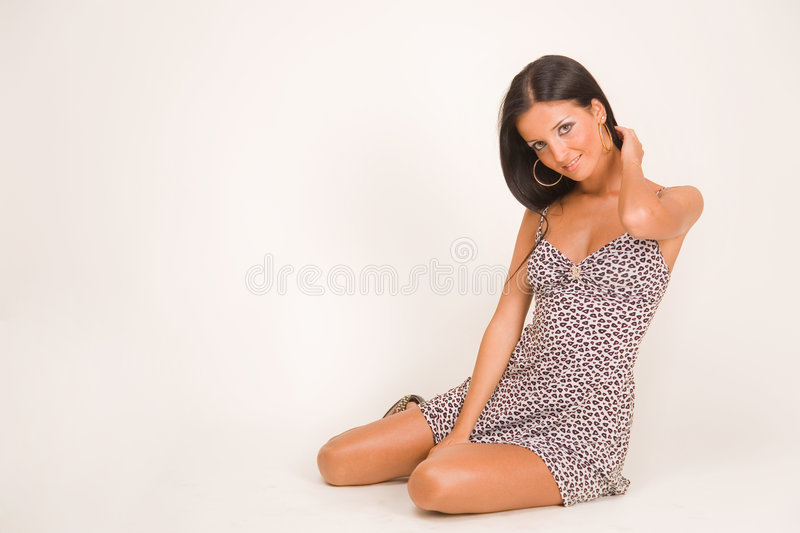 Download Smiling Girl In Short Dress Stock Photo - Image: 7008778