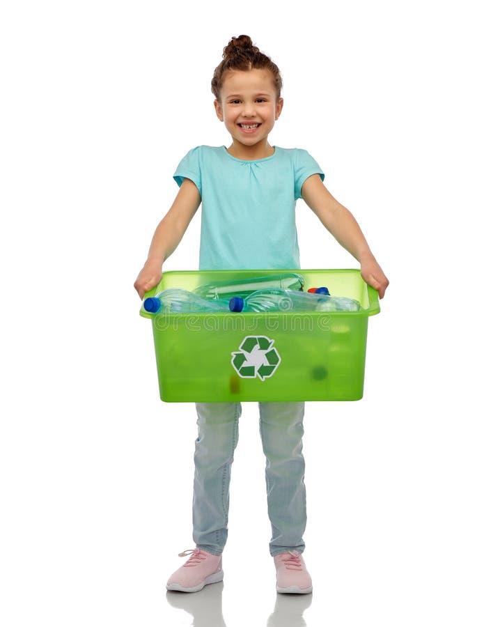 Free Smiling Girl Sorting Plastic Waste Royalty Free Stock Photo - 216491435