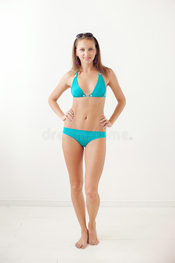 Smiling Girl In Swimwear Royalty Free Stock Photography