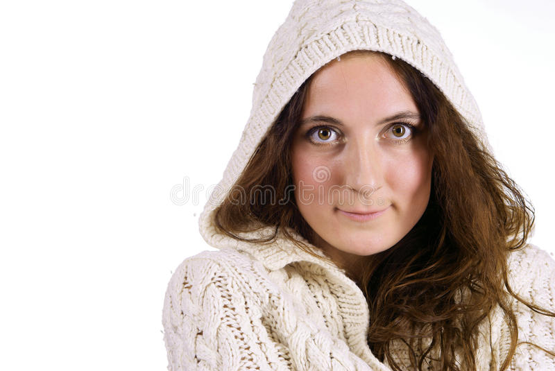 Download Smiling Girl On White Background Stock Photo - Image of playful, woman: 12625582