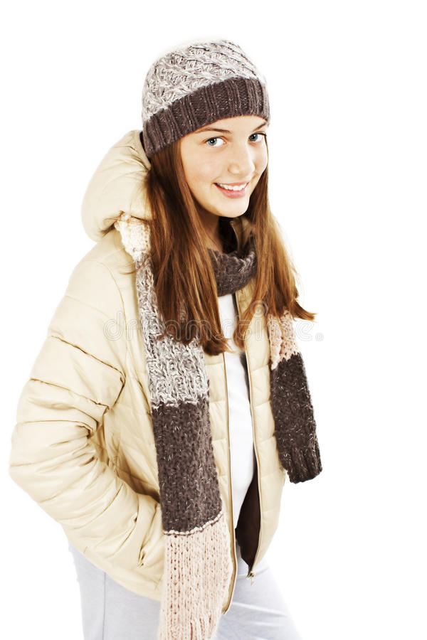 Download Smiling Girl In Winter Style Stock Image - Image: 22979733