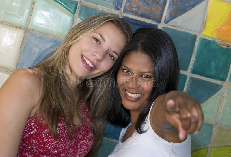 Smiling Girls stock photo