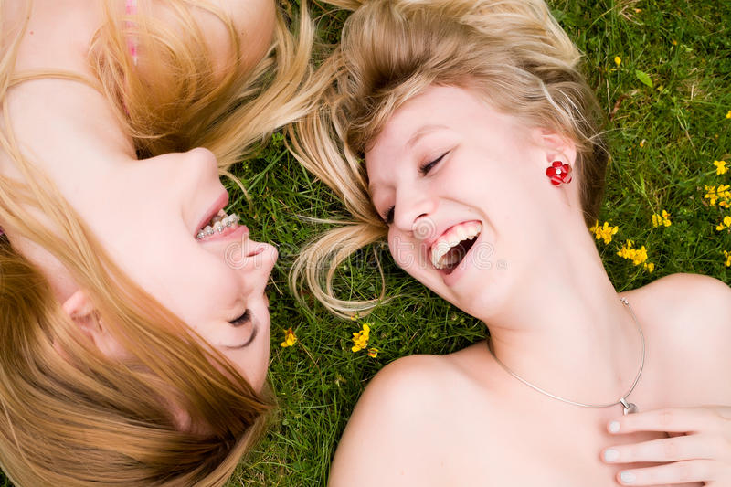 Download Smiling in the grass stock photo. Image of park, fresh - 27975852