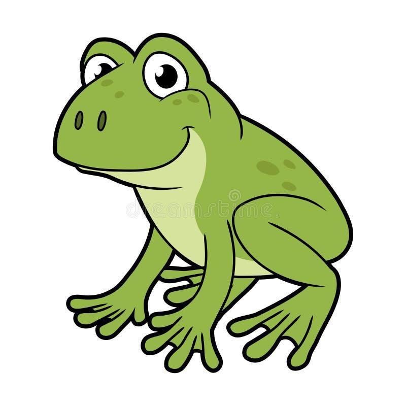 Smiling Green Frog Stock Vector Illustration Of Cartoon 134273577