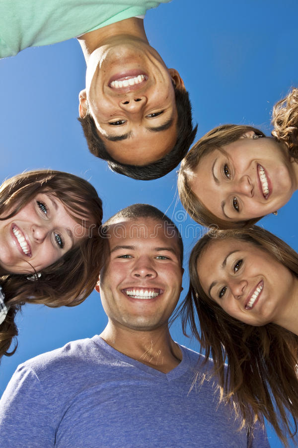 Smiling group of Multi-racial Young Adults royalty free stock image