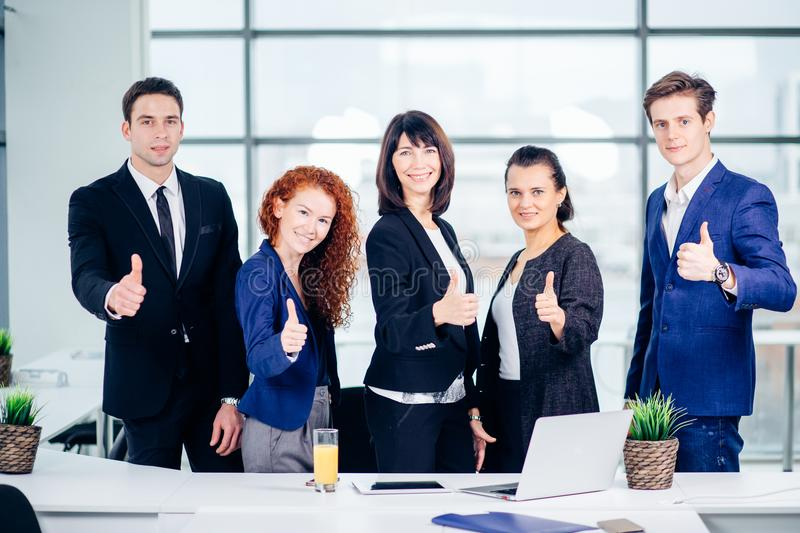Group portrait of corporate business colleagues royalty free stock image