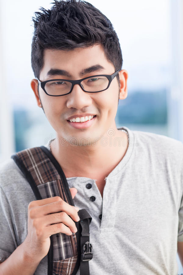 Download Smiling guy stock photo. Image of highschool, asian, male - 26601922