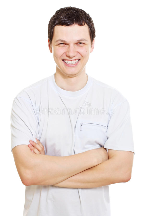 Download Smiling Guy With Crossed Arms Stock Image - Image: 23761805
