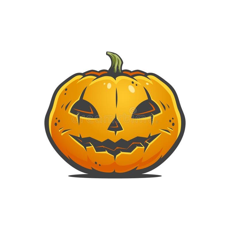 Smiling Halloween pumpkin royalty free stock images