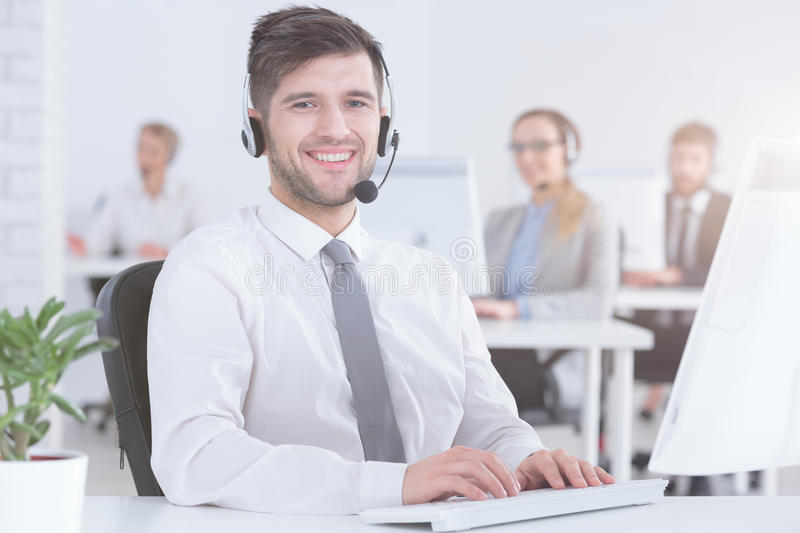 Customer Service Consultant At Work Stock Photo - Image of ...