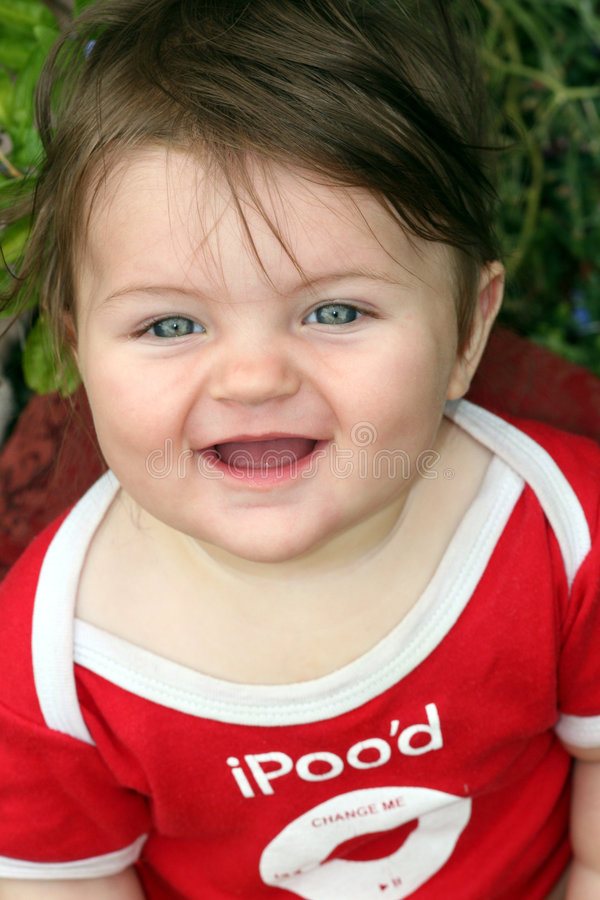 Smiling happy baby royalty free stock photos