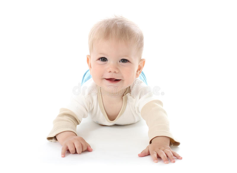Download Smiling Happy Baby On White Stock Image - Image: 29039563