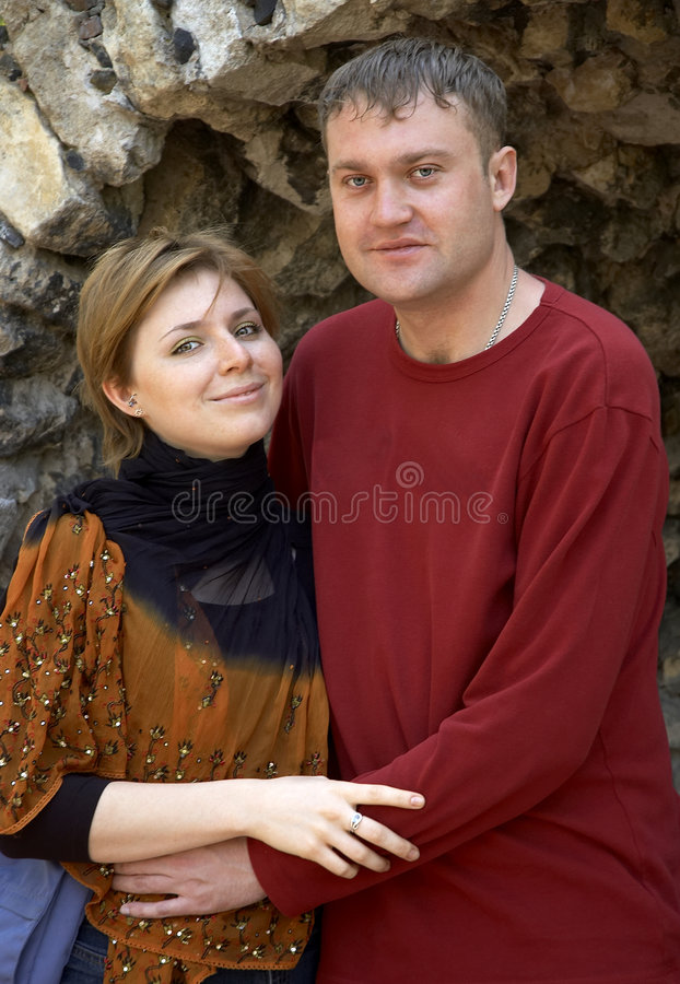 Smiling happy couple royalty free stock photo