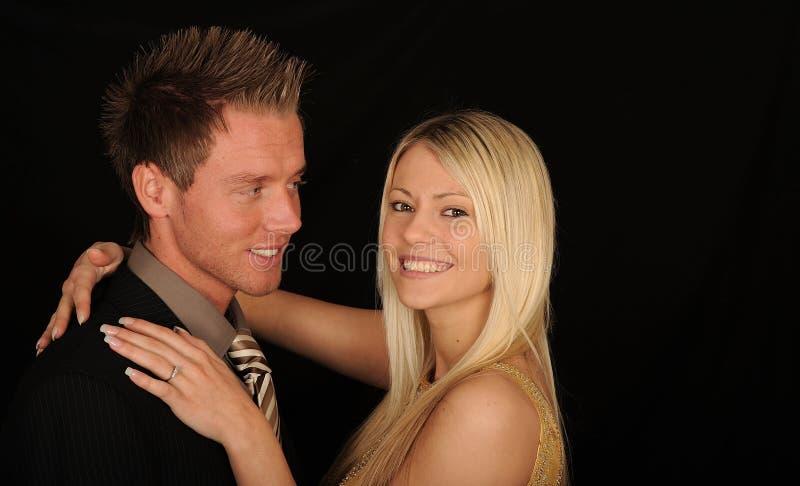 Smiling happy couple royalty free stock image