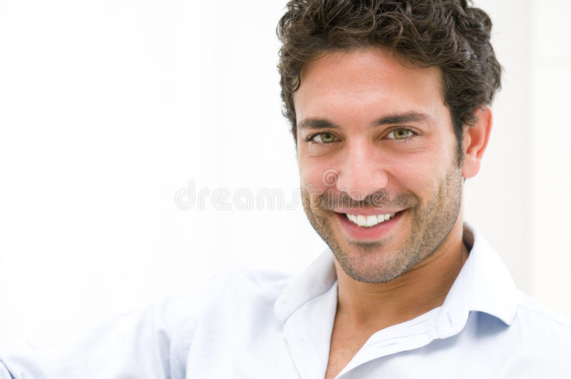 Smiling happy guy royalty free stock photo