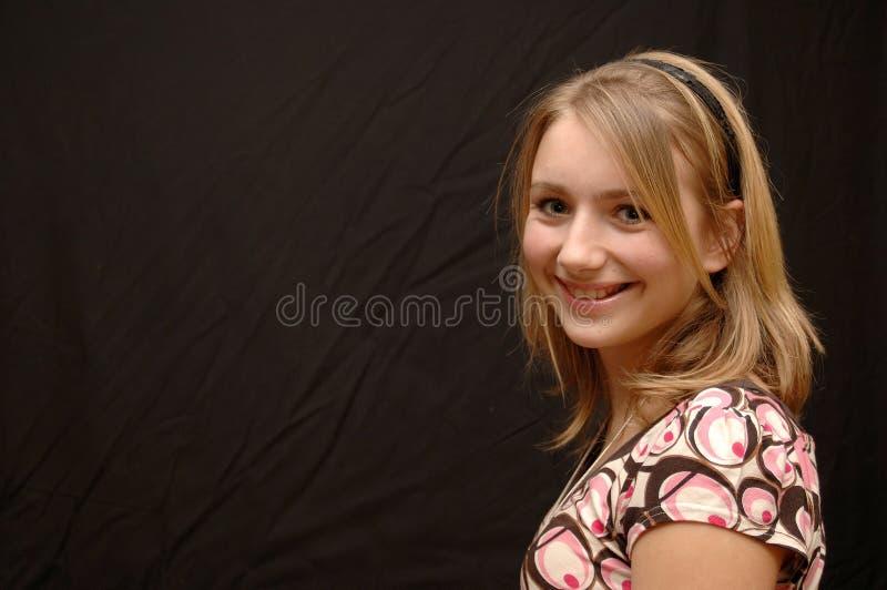 Smiling, Happy Teenage Girl stock photography