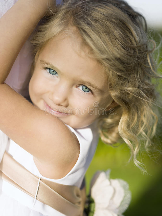 smiling happy toddler with blue eyes stock photo image