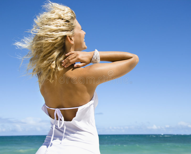 Download Smiling happy woman. stock image. Image of portrait, maui - 3613127