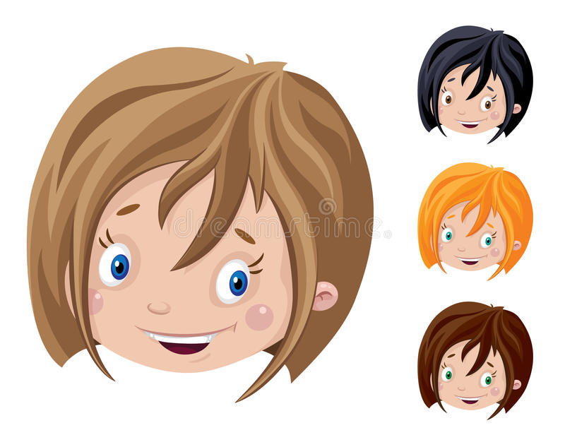 Download Smiling head of girl stock vector. Illustration of head - 32035647