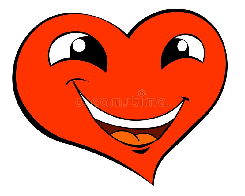 Download Smiling heart stock illustration. Image of attraction - 7170038