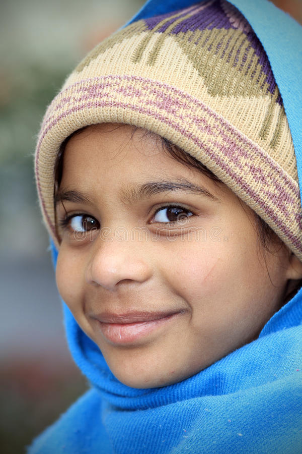 Smiling hindu girl. Closeup shot of smiling hindu girl stock photos