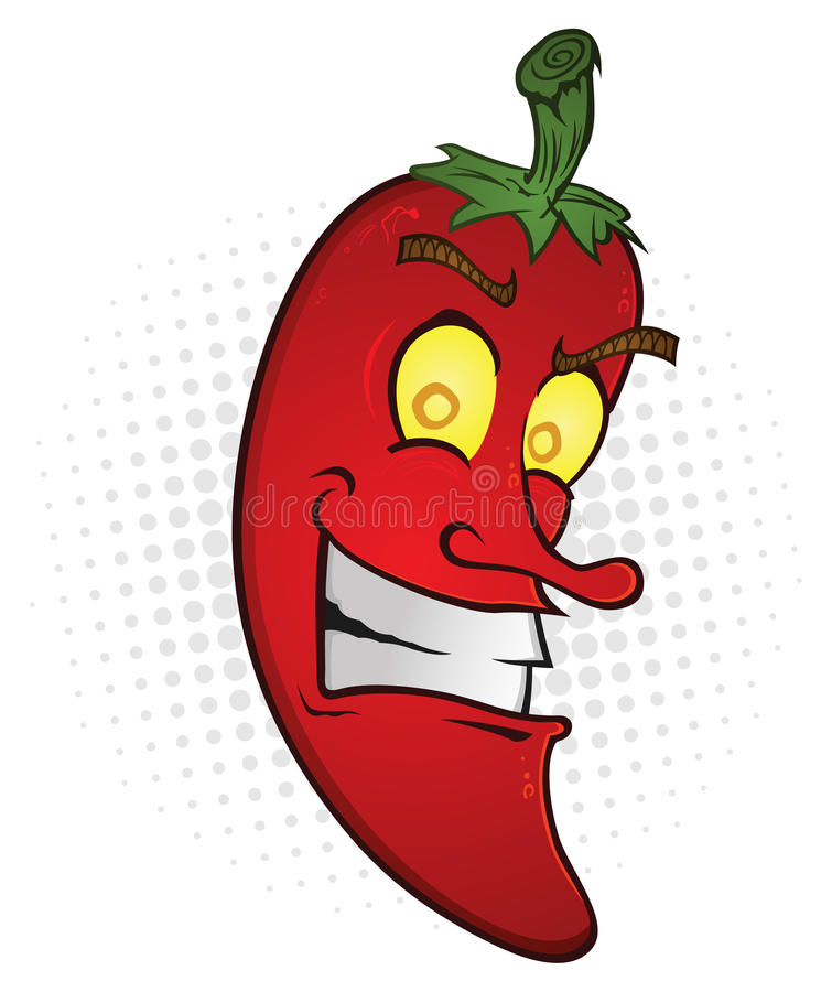 Download Smiling Hot Pepper stock vector. Illustration of mexican - 24681340