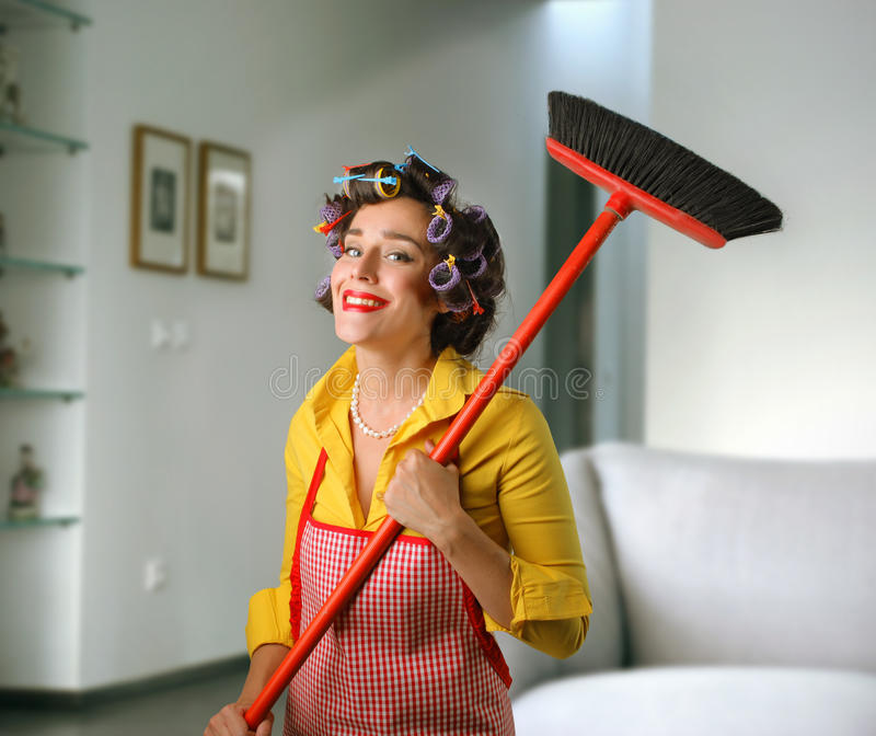 Download Smiling housewife stock photo. Image of happy, indoor - 13464906