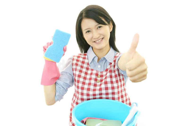 Download Smiling housewife stock image. Image of housekeeping - 39510089
