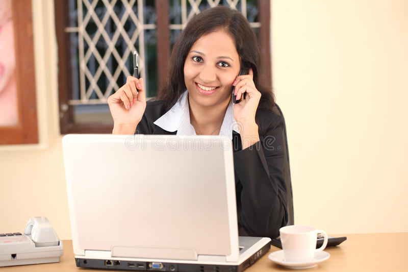 Smiling Indian businesswoman stock image