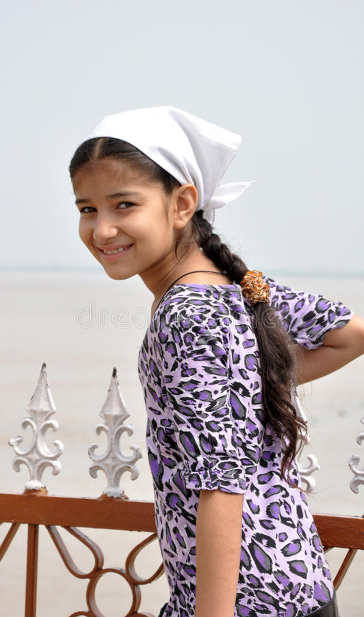 Smiling indian girl royalty free stock images