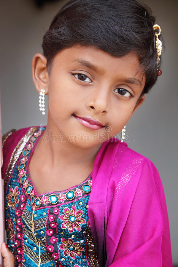 Smiling Indian Little Girl Stock Image