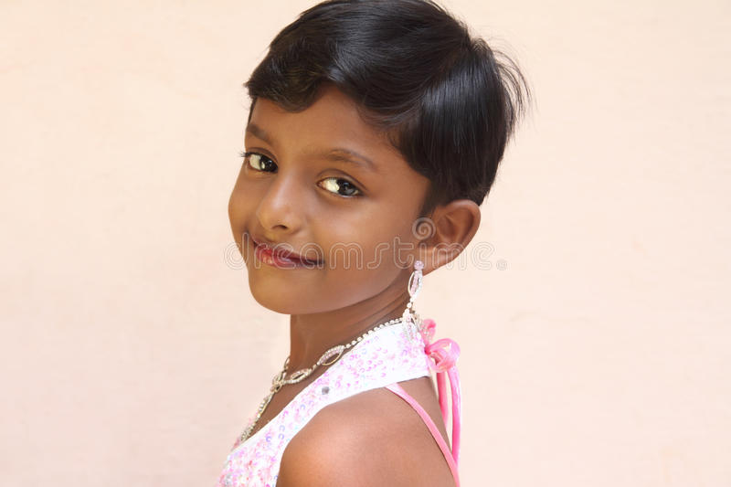 Smiling Indian Little Girl stock image. Image of beauty