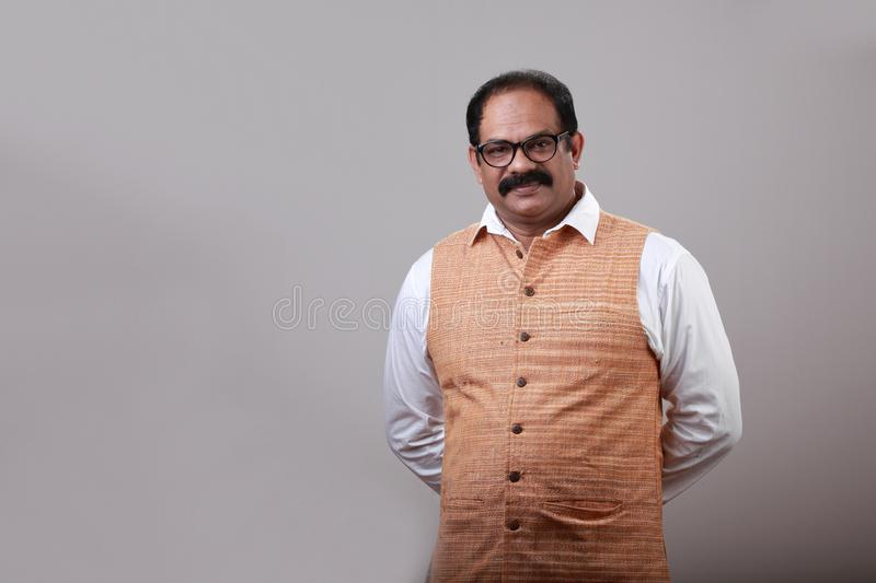 A smiling indian man royalty free stock photos