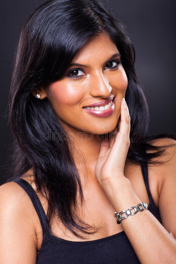 Smiling indian woman royalty free stock image
