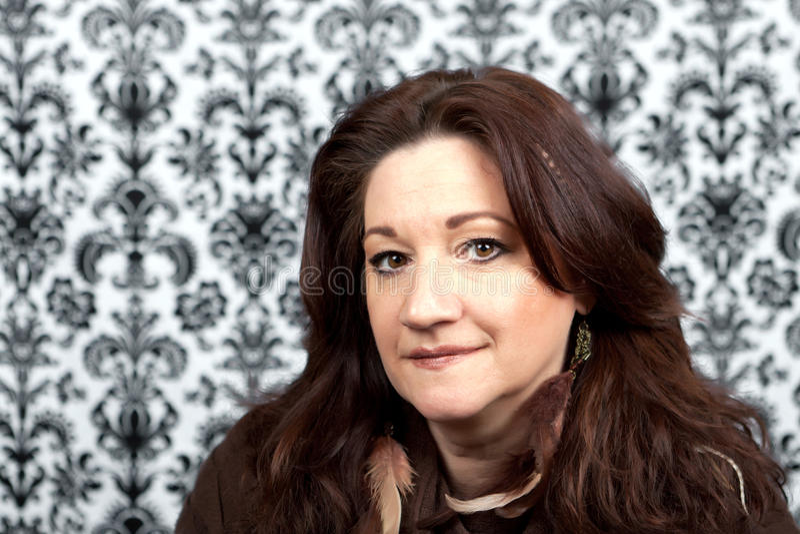 Smiling Italian Woman Stock Photo Image Of Italian Nose