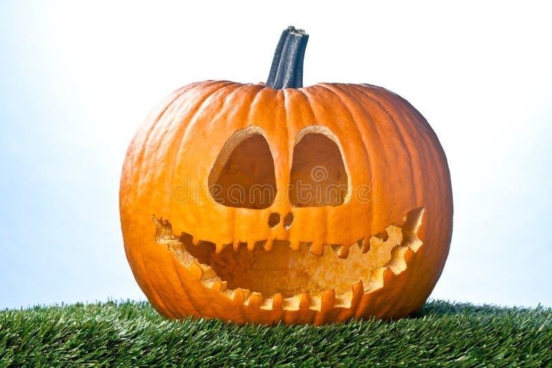 Smiling jack o lantern stock image