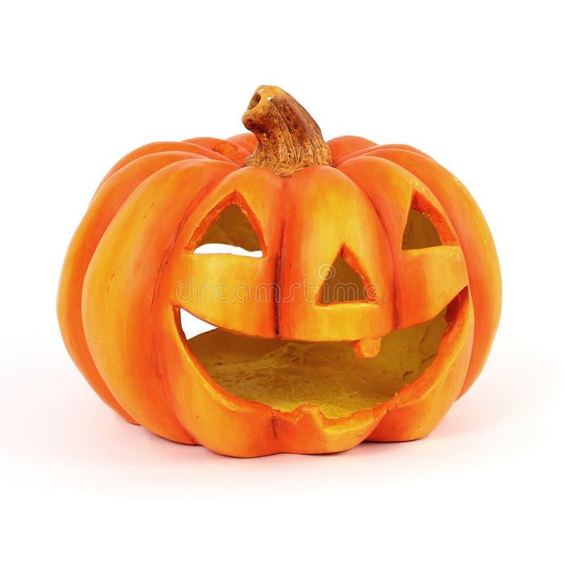 Smiling Jack O Lantern royalty free stock image