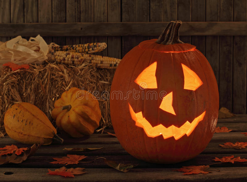 Smiling Jack-O-Lantern royalty free stock image