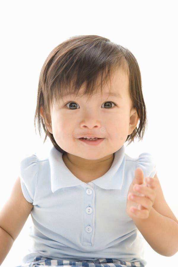 Smiling Japanese Infant Stock Photo