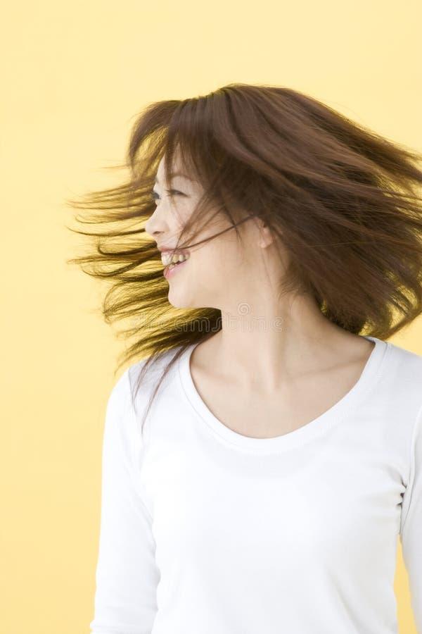 Smiling Japanese woman royalty free stock photo