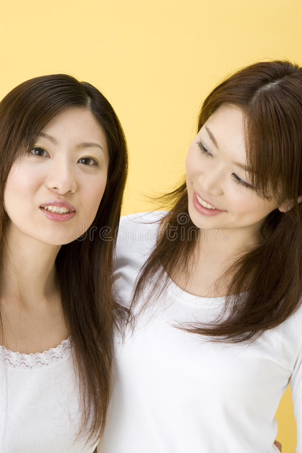 Smiling Japanese women stock photography