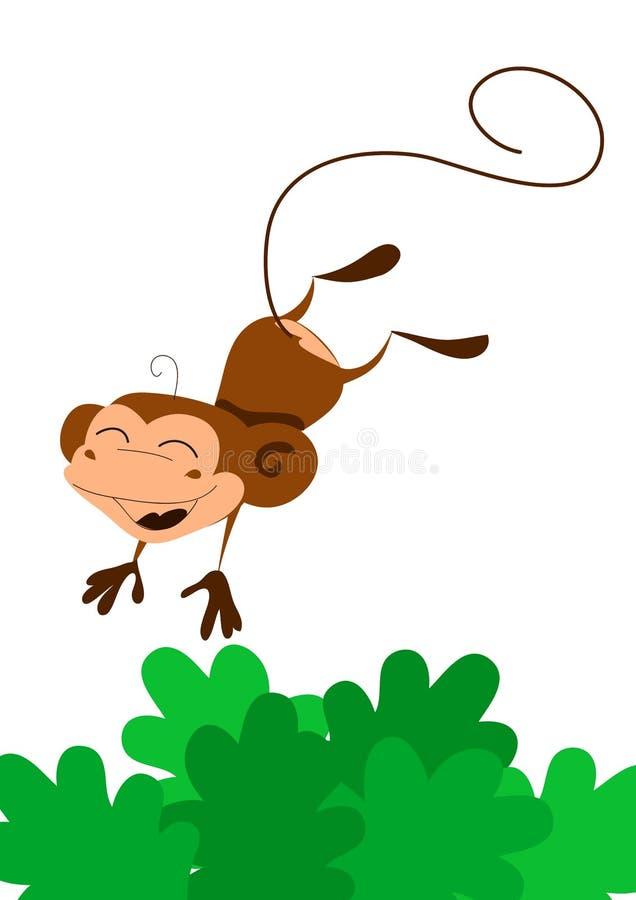 Free Smiling Jumping Cartoon Monkey Royalty Free Stock Photo - 6475205