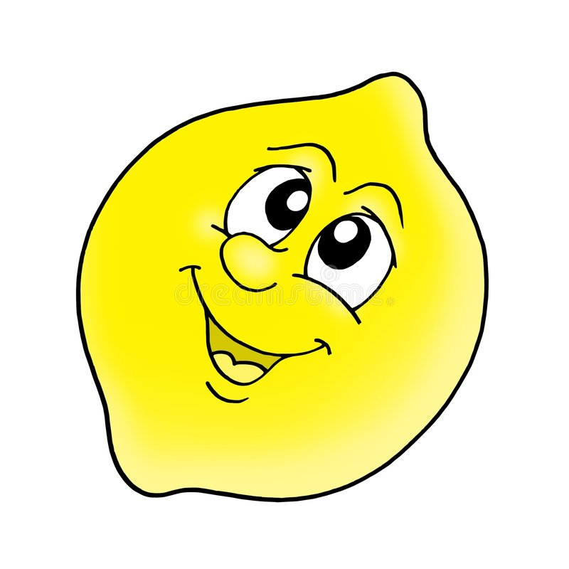 Smiling Lemon Stock Image