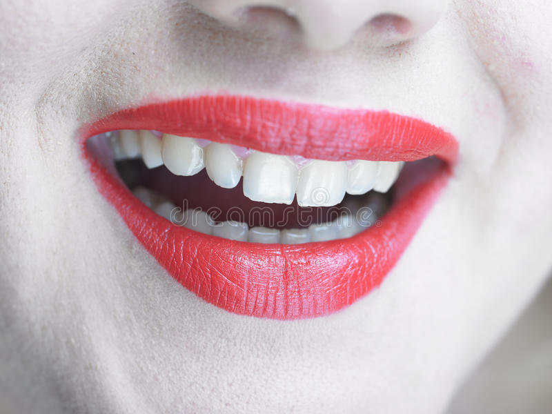 Smiling Lips with glamorous makeup, Smile royalty free stock photos