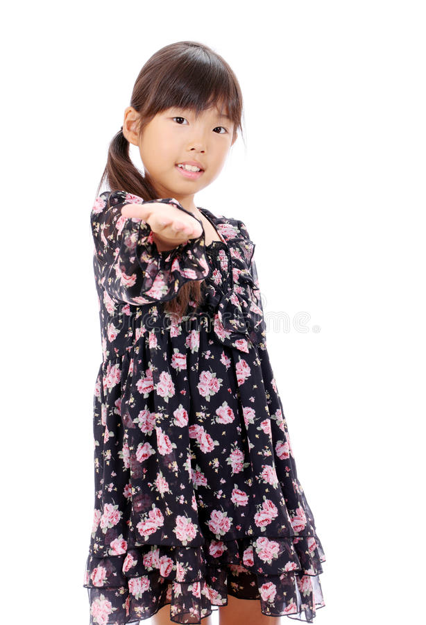 Smiling Little Asian Girl Royalty Free Stock Images