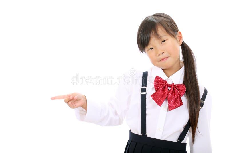 Download Smiling Little Asian Schoolgirl Stock Image - Image: 27635269