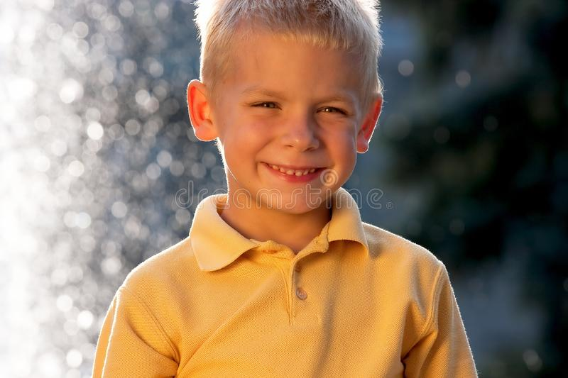 Download Smiling little blonde boy stock image. Image of outdoor - 17910659