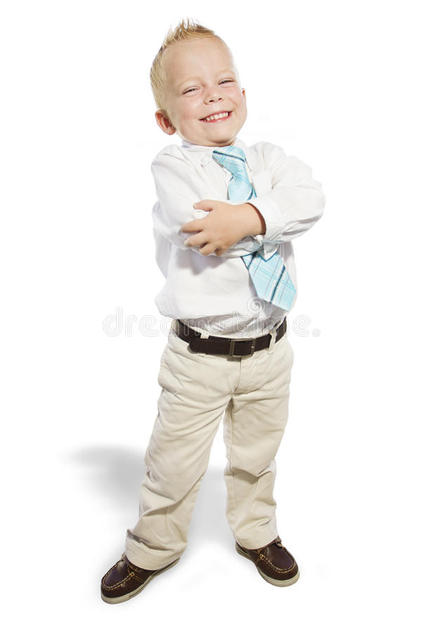 Download Smiling Little Business Man Stock Image - Image: 25131715