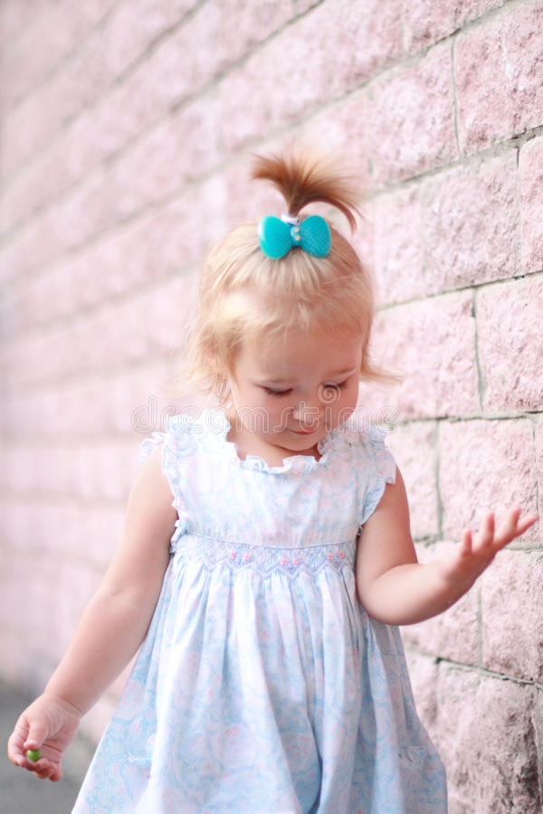 Download Smiling little girl stock photo. Image of ribbon, good - 25127956