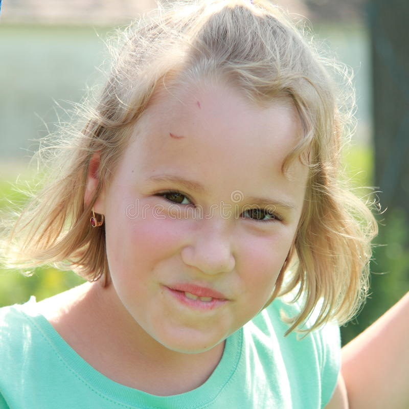 Download Smiling little girl stock image. Image of smiling, green - 25515197